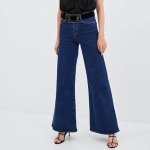 Zara High Rise Palazzo Jeans